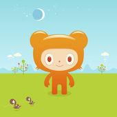 Bear  in  countryside — Stockvektor