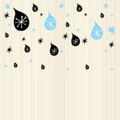 Winter drops — Stock Vector