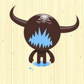 Brown creature — Stock Vector