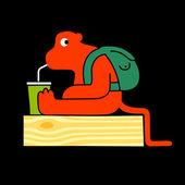 Potwór picia — Wektor stockowy