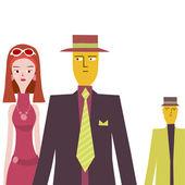 Fashionable couple — Cтоковый вектор