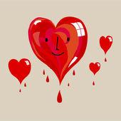 Valentine love hearts — Stok Vektör