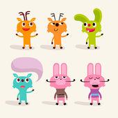 Animals character — Vector de stock