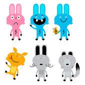 Animals character — Stock Vector