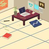 Oda japon tatami mat — Stok Vektör
