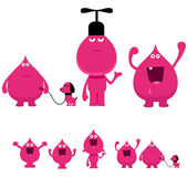 Strange pink creatures — Stock Vector