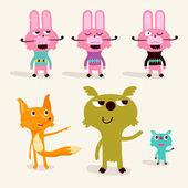 Animal character — Stock Vector