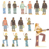 Musician characters — Stock Vector