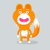 Orange fox creature — Stockvektor