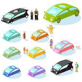 Car showroom — Stock vektor
