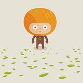Orange creature — Stock Vector