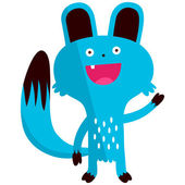 Blue rodent animal character — 图库矢量图片