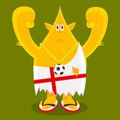 English Football Fan — Stock Vector
