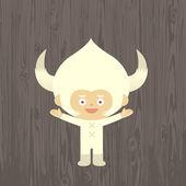 Creature with horns — Stok Vektör
