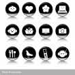 Black pearl icons — Stock Vector #46959013