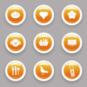 Funny icons — Stock Vector