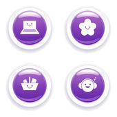 Funny buttons — Stock Vector