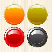 Empty buttons — Stock Vector