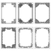 Set of vintage frames. — Stock Vector