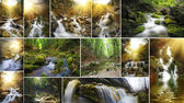 Waterfall collection — Stock Photo