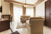 Interior of a modern hotel suite — Stock Photo