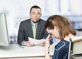 Bad job interview — Stock Photo