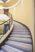 Luxury staircase with led lights in hotel — Stock fotografie