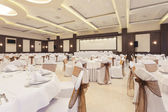 Banquet hall decorated for special occasion — Stock Photo