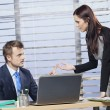 Two business people arguing in office — Stock Photo #51456381