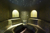 Turkish bathroom with ambient lights — Stockfoto