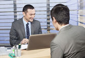 Job interview going well — Stock Photo