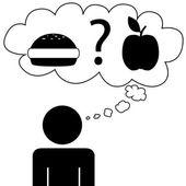 Man dream food — Stock Vector