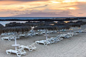 Playa del Duque at sunset. — Stock Photo