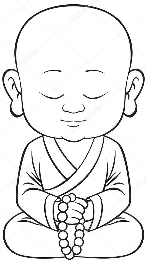 Small buddha vector — Stock Vector © AnnaSuchkova #51179057