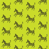 Funny zebras jump — Stock Vector