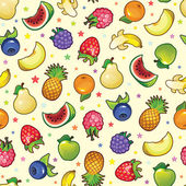 Set of bright colored fruits and berries — ストックベクタ