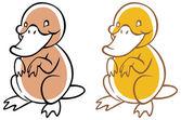 Funny cartoon platypus — Stock Vector