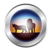 Lion icon — Stock Vector
