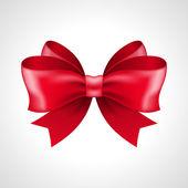 Red bow shiny vector illustration — Stock Photo