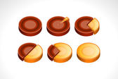 Set segmented circle pie charts infographic vector illustration — Stock Vector