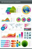 Infografika sběru informací grafiky vektor — Stock vektor