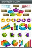 Infographics koleksiyonu bilgileri grafik vektör — Stok Vektör