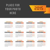 Calendar 2015 vector design template — Stock Vector