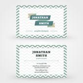 Creative business card vector design print template — Stock Vector