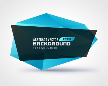 Abstract geometric 3d shape vector background