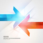 Arrows abstract geometric vector background  — ストックベクタ