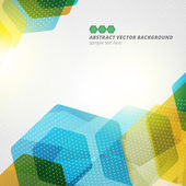Abstract hexagon geometric vector background  — ストックベクタ