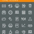 Line icons set. Technology media objects. Vector web design elements — Stock Vector #51371225