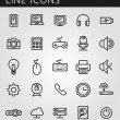 Line icons set. Technology media objects. Vector web design elements — Stock Vector #51371235