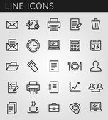 Line icons set. Technology media objects. Vector web design elements  — Stock vektor